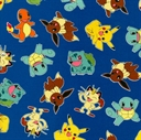 Picture of Pokemon Character Nintendo Pikachu Charmander Bulbasaur Cotton Fabric