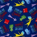 Picture of Disney Inside Out Everyday is Full of Emotions Blue Cotton Fabric