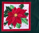 Picture of The Christmas Star Poinsettia Single Bloom Cotton Fabric Pillow Panel
