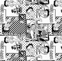 Picture of Betty Boop White Retro Scenes Black and White Comic Cotton Fabric