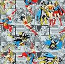 Picture of Girl Power II Comic Batgirl Supergirl Wonder Woman Grey Cotton Fabric