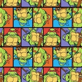 Picture of TMNT Teenage Mutant Ninja Turtle Portrait Patch Cotton Fabric