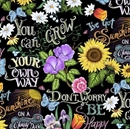 Picture of I've Got Sunshine on a Cloudy Day, Don't Worry Be Happy Cotton Fabric