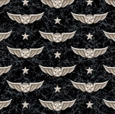 Picture of Wingman Smithsonian Military Pilots Wings Marble Black Cotton Fabric