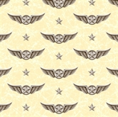 Picture of Wingman Smithsonian Military Pilots Wings Marble Cream Cotton Fabric