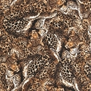 Picture of The Wild Side Cheetah Collage Animal Skin Brown Fur Cotton Fabric