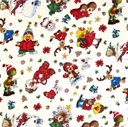 Picture of Suzy's Zoo Christmas Character Toss 2013 White Cotton Fabric