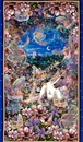 Picture of Dreamland Fairies Unicorn Castle 24x44 Large Cotton Fabric Panel