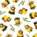 Picture of Minion Movie All Natural Minion Toss White Cotton Fabric