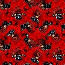 Picture of Marvel Black Widow Punch Superhero Red Cotton Fabric