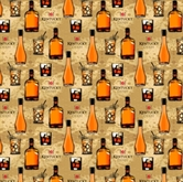 Picture of Kentucky Derby Bourbon Bottles and Drinks Cotton Fabric