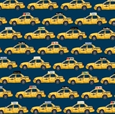 Picture of NYC Taxi Cabs Soho 5th Ave Park Ave Empire State Cotton Fabric