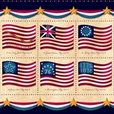 Picture of Long May She Wave American Flag History 24x44 Cotton Fabric Panel