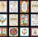 Picture of Mary Engelbreit Marys Mottos To Live By 24x44 Cotton Fabric Panel