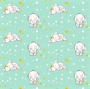 Picture of Disney Sweet Dreams Dumbo the Elephant Nursery Cotton Fabric