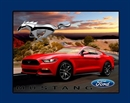 Picture of Ford Mustang Red Classic Mustang Large Cotton Fabric Panel
