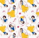 Picture of Disney Princess Snow White with Apple White Cotton Fabric
