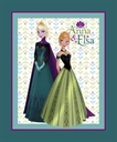 Picture of Disney Frozen Elegant Anna Elsa at the Ball Large Cotton Fabric Panel