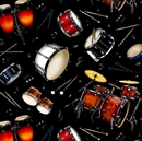 Picture of Live Jazz Music Drum Set Conga Bongo Tambourine Drums Cotton Fabric