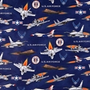 Picture of United We Stand Military U.S. Air Force Fighter Jets Cotton Fabric
