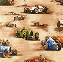 Picture of Classic Cruisers Vintage Race Cars Antique Roadsters Cotton Fabric