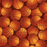 Picture of Basketball Balls Packed on Brown Cotton Fabric