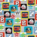 Picture of All Stars Peanuts Baseball Patch Team Snoopy Play Ball Cotton Fabric