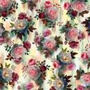 Picture of Rosewater Rose Bouquet Elegant Garden Roses Cotton Fabric