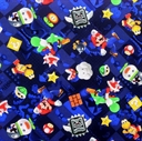 Picture of Nintendo Mario Gloomy Video Game Icon Toss Digital Blue Cotton Fabric