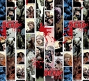 Picture of The Walking Dead Stripe TV Series Comic Strip Cotton Fabric