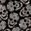 Picture of Potions and Spells Large Skull Copper Metallic Cotton Fabric
