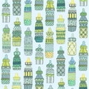 Picture of Baby Sprinkles Decorative Baby Bottles on Light Blue Cotton Fabric