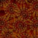 Picture of Rise and Shine Geometric Design Mandalas Rust Cotton Fabric