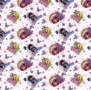 Picture of Little Charmer Nickelodeon Hazel Posie Lavender Friends Cotton Fabric
