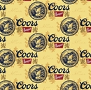 Picture of Miller Coors Beer Golden Cans Cotton Fabric