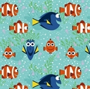Picture of Disney Finding Dory All Smiles Girl Marlin Nemo Coral Cotton Fabric