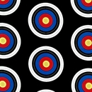 Picture of Sports Life 3 Archery Target Shooting Targets Black Cotton Fabric