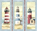 Picture of Seaside Nautical Lighthouse Picture Patch Large Cotton Fabric Panel