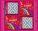 Picture of Game Night Scrabble Game Board and Letters Large Cotton Fabric Panel