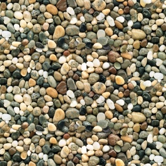 Cotton fabric nature fabric landscape medley brown for Smooth stones for landscaping