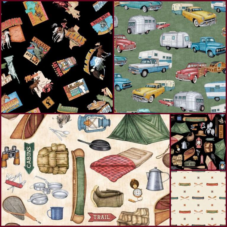 camping and fishing fabric