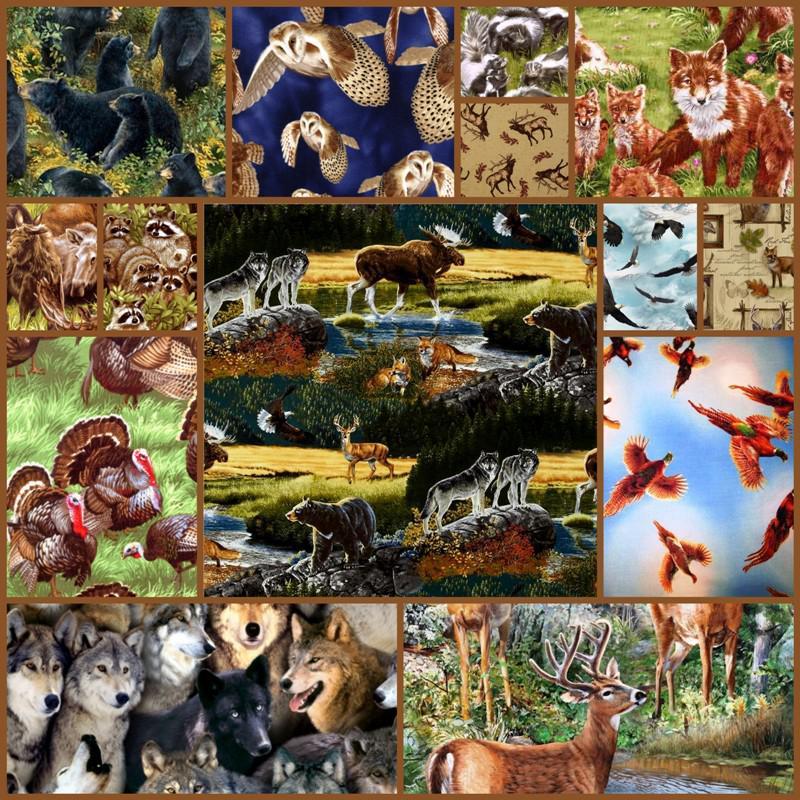 woodland animals fabric on sale