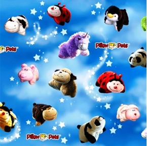 Pillow Pets All Over Pets in the Clouds Cotton Fabric