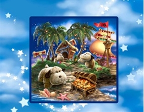 Picture of Pillow Pets Dogs on Island Cotton Fabric Pillow Panel