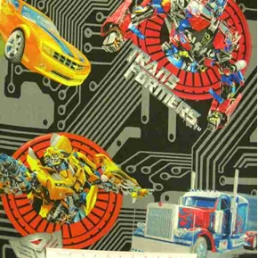 Picture of Transformers Optimus Prime Bumble Bee 24x22 Cotton Fabric