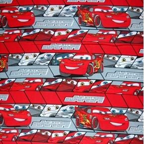 Picture of Disney Cars Slip Stream Supercars Stripe Cotton Fabric