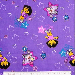 Picture of Dora The Explorer Monkey Go To School Cotton Fabric