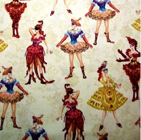 Picture of Masquerade Phantom of the Opera Ladies In Costumes Cotton Fabric