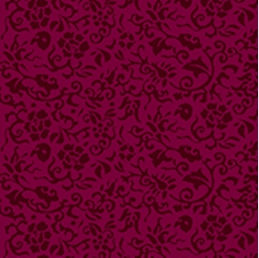 Phantom of the Opera Small Flowers on Wine Cotton Fabric