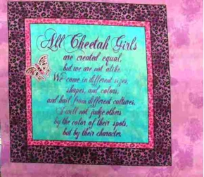Disney Cheetah Girls Creed Cotton Fabric Pillow Panel